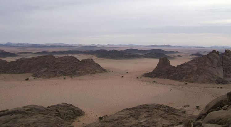 The desert in Saudi Arabia from GZ of GCJ509 Hard Rock Cache - GZ was 60km from the tarmac and the photo shows the