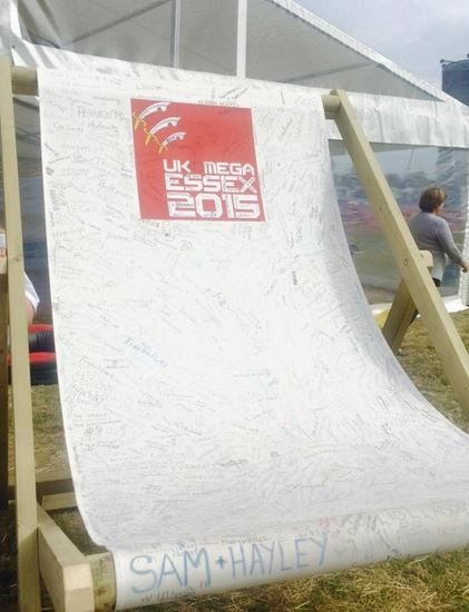 The massive deckchair logbook!