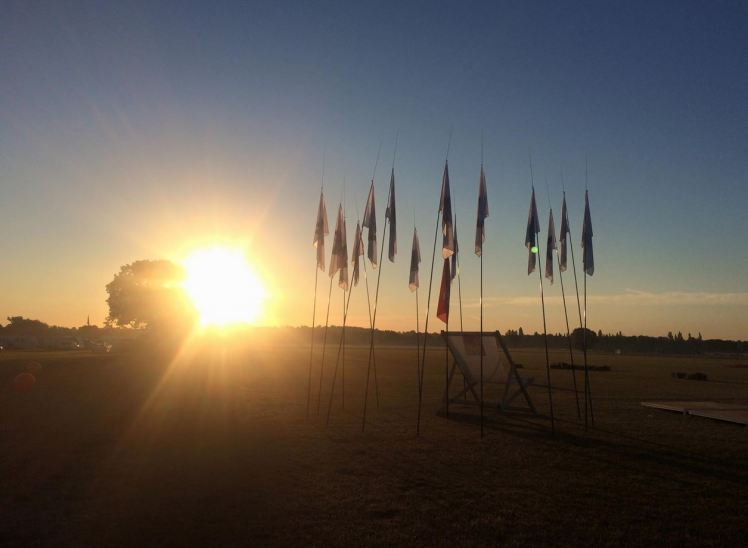 The sun rising on the final day - along with all the event logbooks