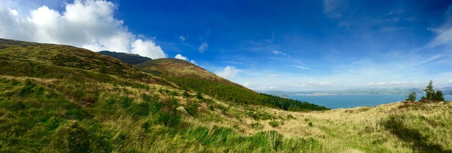 Panoramic View from the top carpark at Slieve Foye Woods