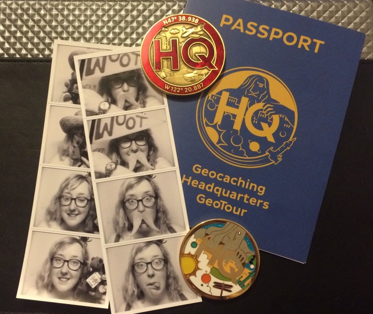 Photobooth fun, my two HQ coins and my HQGT Passport
