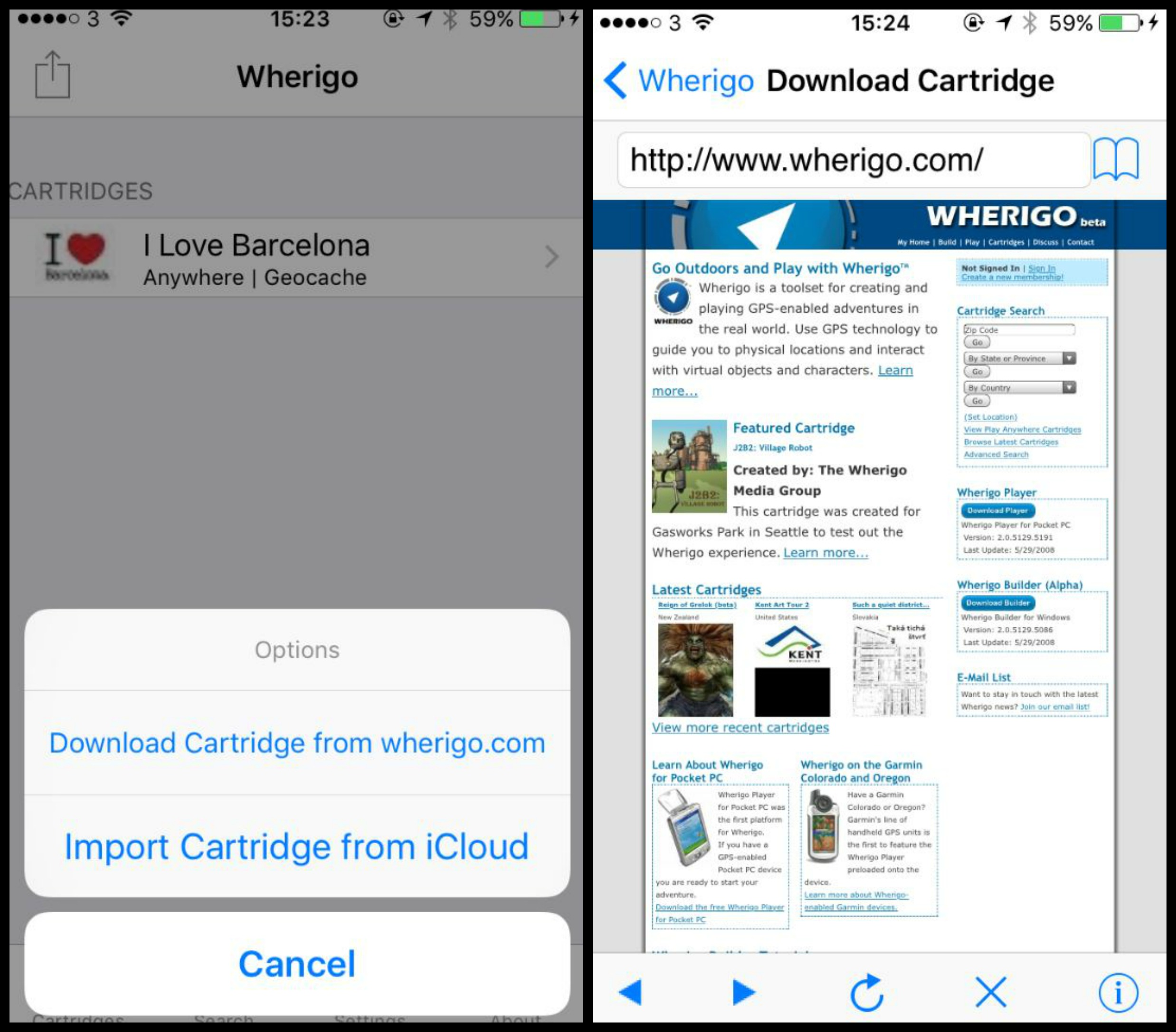wherigo collages screenshot2