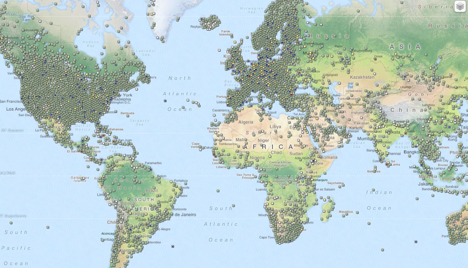 all caches worldwide
