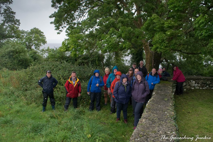 Geocaching on Holy Island/Inis Cealtra on Lough Derg, East County Clare, Ireland