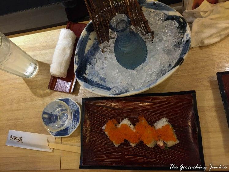 The Geocaching Junkie Sushi and Sake in Tokyo