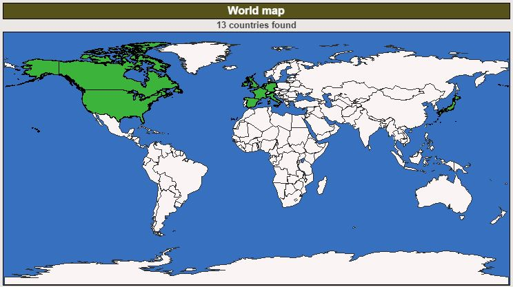 The Geocaching Junkie world map