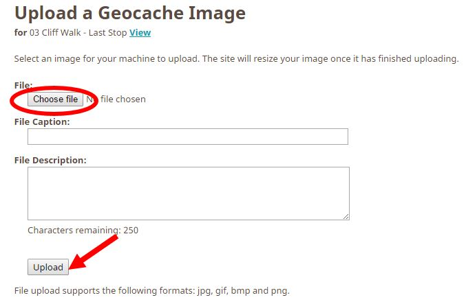 The Geocaching Junkie - How to Upload an Image to your Cache Description
