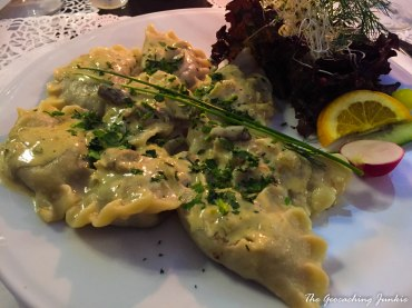 The Geocaching Junkie: Pierogi - meat dumplings in Gdansk Poland