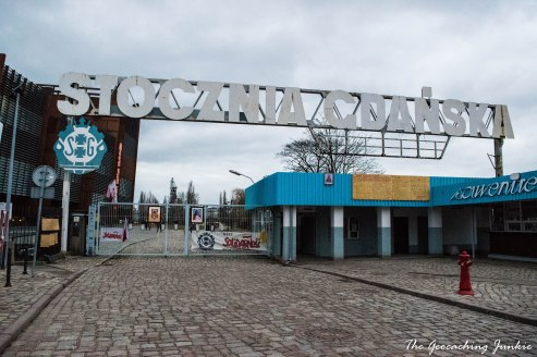 The Geocaching Junkie: Lenin Shipyard Gate, Gdansk