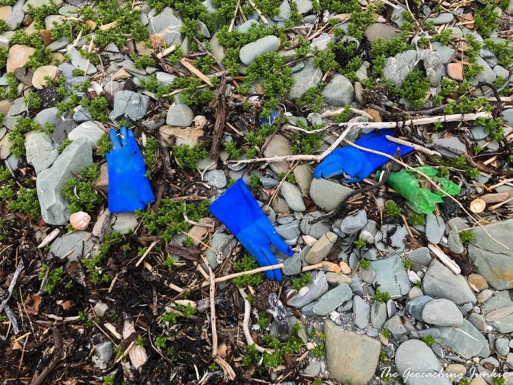 Tyrella beach rubbish