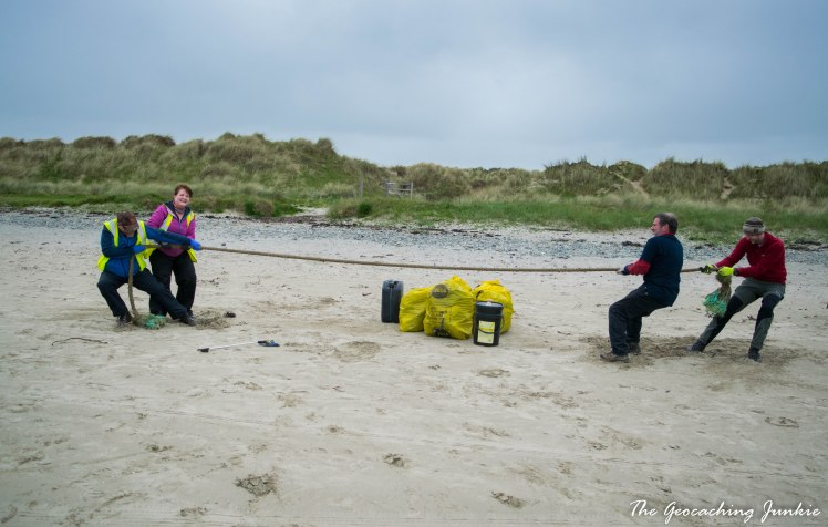 Tyrella beach tug of war