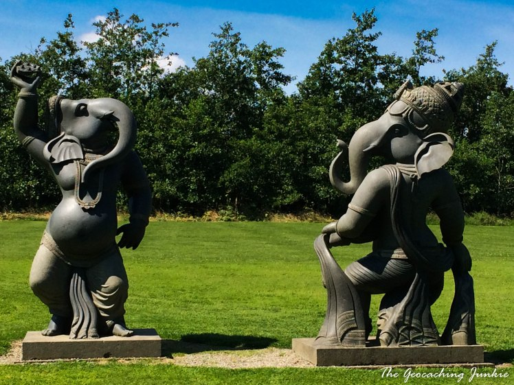 Hidden Gems found while Geocaching: Indian Sculpture Garden | The Geocaching Junkie | There is nothing like letting geocache owners be your guide, when you're abroad but also when you're looking for somewhere nice to spend some time closer to home. I found a geocache outside Victor's Way in Wicklow in 2014 and discovered the most beautiful sculpture garden - oh the places we'll go because of geocaching!