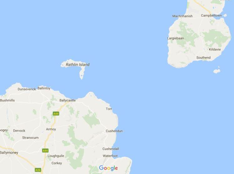 rathlin google map